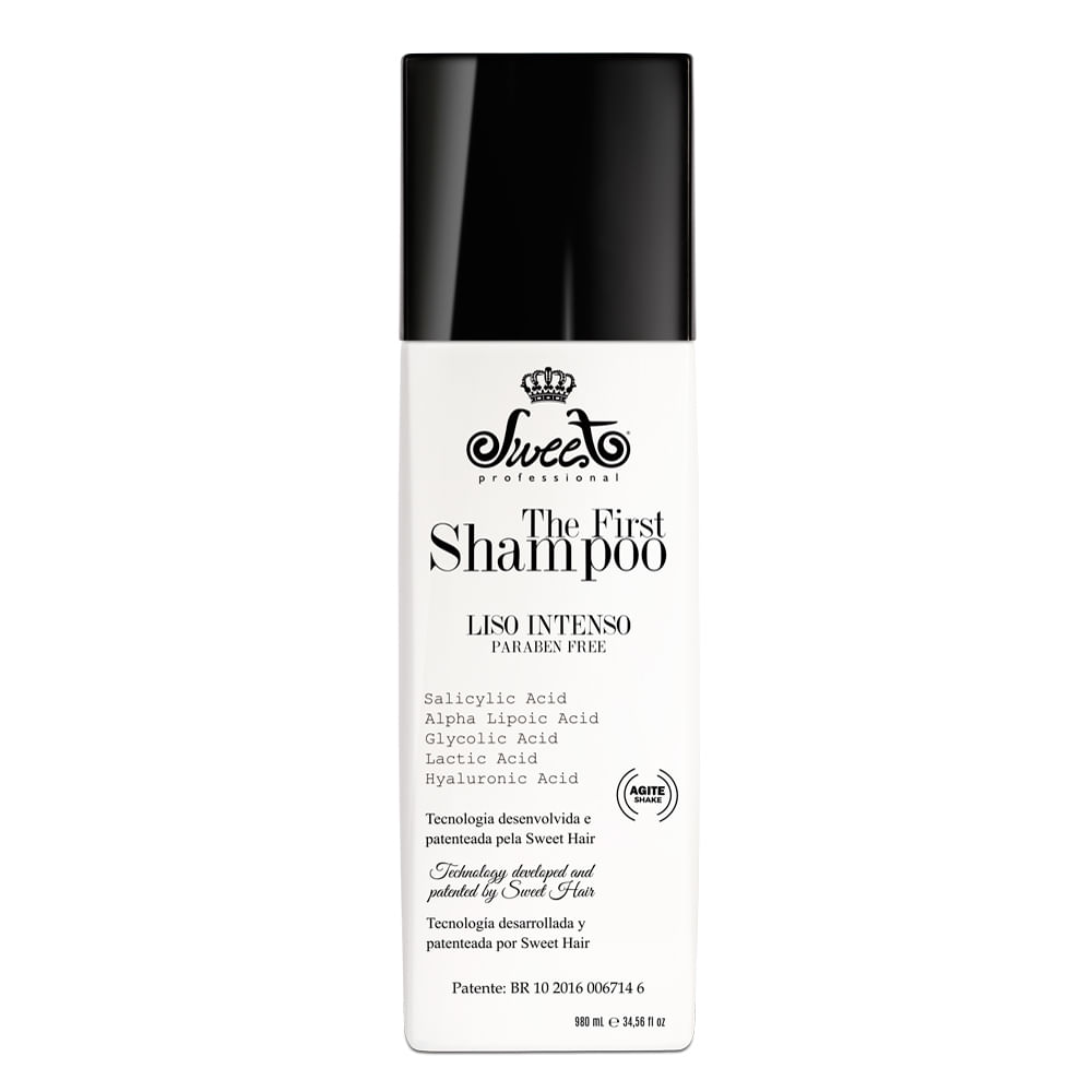 Shampoo Alisante Sweet The First 980ml Shampoo Alisante