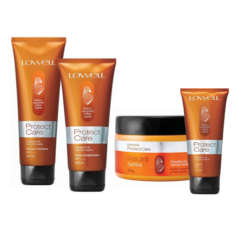 lowell protect care full kit completo belíssima cosméticos
