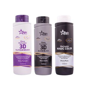 Kit-3-Magic-Color-500ml---Platinum-Branco--Blond-Black-Platinum-Blond